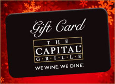 Capital Grill Gift Card - put the capital grille gift cards to your gift list