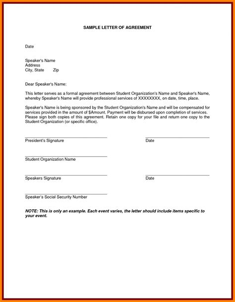 soa service contract template letter format design copy soa service contract template
