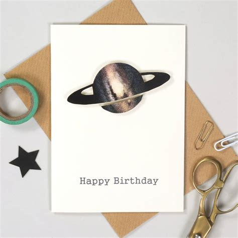 Personalised Handmade Birthday Cards - personalised handmade space birthday card by bombus