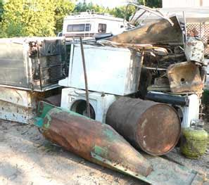 Scrap Metal Countertops by River Notes Cooper S Clean Up Trash Tally