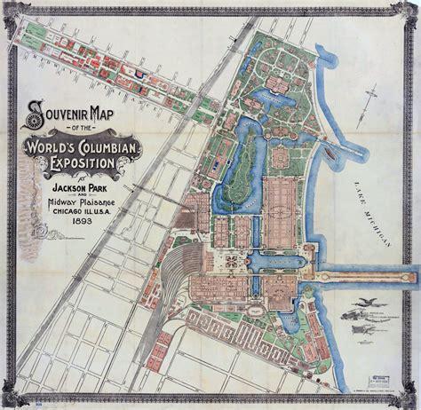jackson park chicago map souvenir maps of the world s columbian exposition