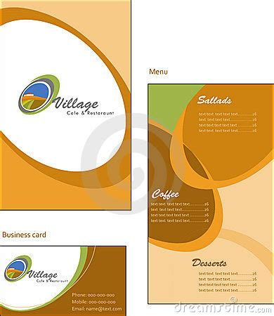 Corporate Menu Card Template template designs of menu and business card for co royalty