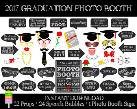 printable photo booth props graduation printable graduation photo booth props 2017graduation photo