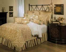 Damask Bedding Sets Canada 4pc Opulent Ivory Gold Velvet Damask Design Comforter Set