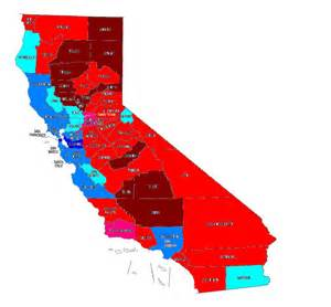 political map of california races and redistricting california baselines