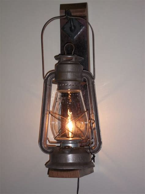 Rustic Cabin Lighting Fixtures Rustic Cabin Lighting Electric Lantern Wall Fixture From Bigrocklanterns Cabin Decorating
