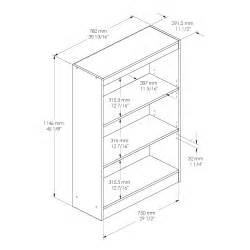 typical dimensions standard bookshelf dimensions