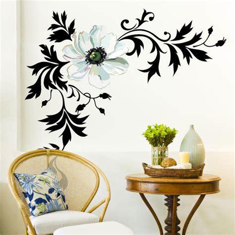 stylish wall stickers stylish flower wall stickers vinyl decals ebay