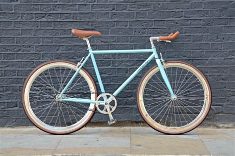 Viva Fixie azure light blue single speed bike fixed gear bicycles