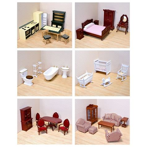 doll house with furniture melissa and doug victorian dollhouse furniture bundle new free shipping