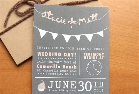 Wedding Invitation Idea by Budget Wedding Ideas Diy Invitations Etsy Weddings