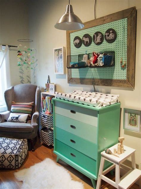ideas  pegboard nursery  pinterest changing