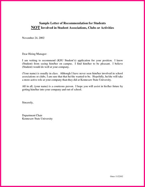 Student Worker Cover Letter by Recommendation Letter For Student Worker Cover Letter Templates