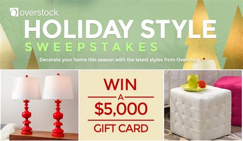 Hgtv Overstock Sweepstakes - hgtv holiday style sweepstakes win a 5 000 overstock gift card sweepstakesbible