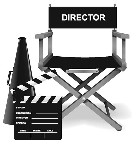 movie director chair clip art pin directors chair and megaphone clip art on pinterest