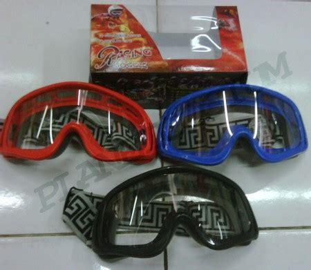 Kacamata Goggle Racing Merah Hitam Biru Hijau cross racing transparan planetcostum