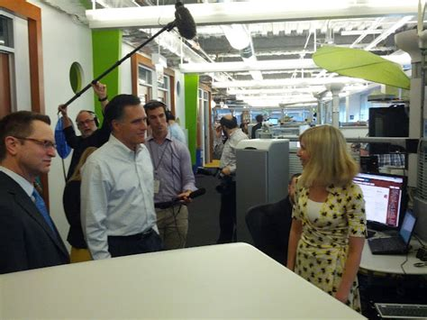 google office tour mitt romney visits google chicago