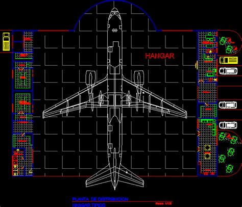 hangar largeaircraft dwg block  autocad designs cad