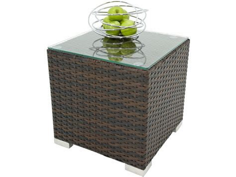 rattan side table rattan side table coffee table brown outdoor side table