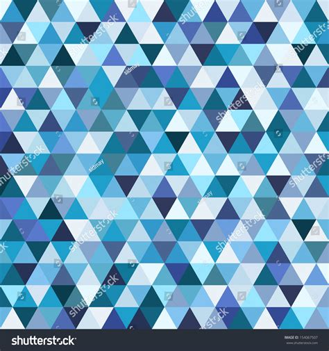 blue triangle pattern vector background geometric mosaic pattern blue triangle texture stock