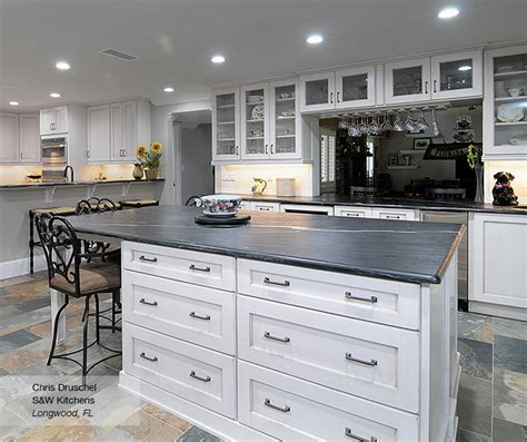 Superior Houzz Kitchens With White Cabinets #4: Pearl_white_shaker_style_kitchen_cabinets.jpg