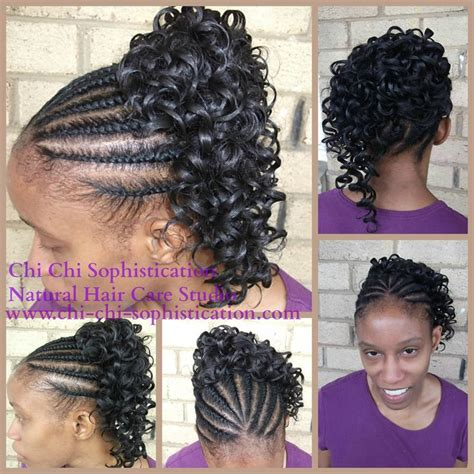 blqck hair styles poney tails and flat twist natural flat twist with synthetic ponytail children