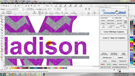 how to make a design how to create a custom glitter shirt design in 2 minutes trw wizard coreldraw