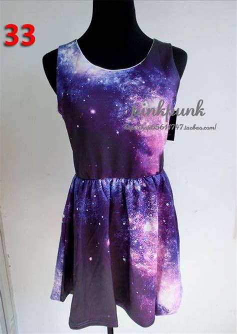 galaxy pattern clothes purple pink sleeveless galaxy pattern dress sheinside com