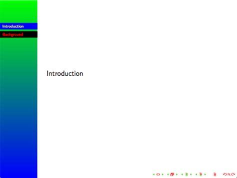 beamer theme goettingen logo color of the navigation bar in beamer theme goettingen