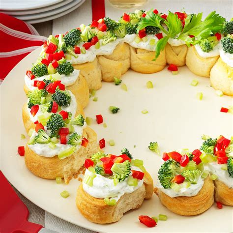 christmas appetizers appetizer wreath recipe taste of home