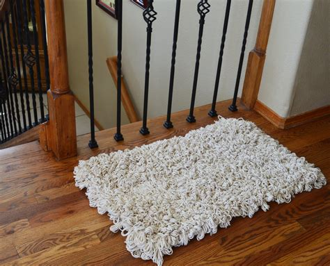 cotton loop back area rug fluffy modern rugs knotted