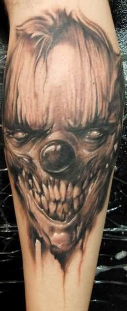 Clown Face Tattoo Ideas And Clown Face Tattoo Designs Tattoos Of Evil Clowns