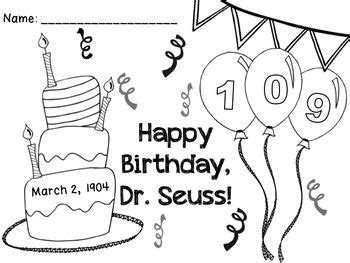 coloring pages dr seuss birthday free seuss birthday 2013 color page