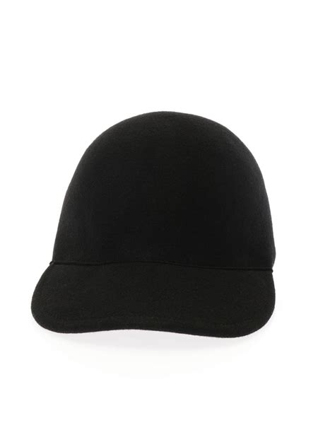 Baseball Hat Black lyst stella mccartney baseball cap in black
