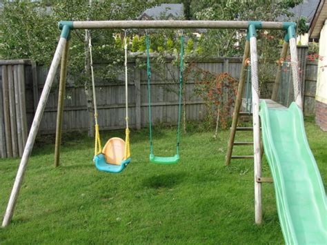 swing and slide set for sale wooden swing set 2 swings seesaw slide for sale in wicklow