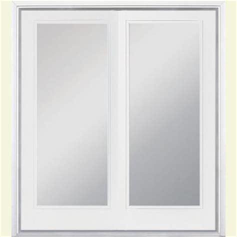 Patio Doors For 2x6 Walls Jeld Wen 72 In X 80 In Steel White Right Inswing