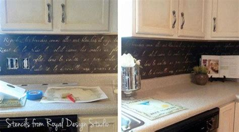 kitchen stencil ideas kitchen stenciling ideas 2 diy stencil projects to try