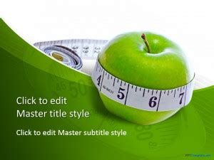 Free Diet Measure Apple Ppt Template Free Health And Nutrition Powerpoint Templates