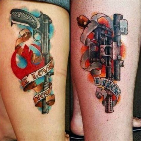 couples star wars tattoos your favorite wars from this lineup