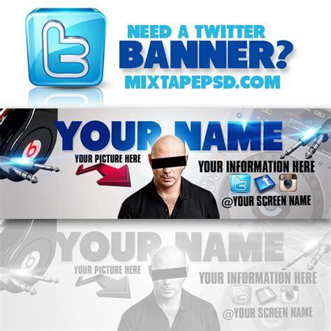 twitter banner psd template 3 mixtapepsd com