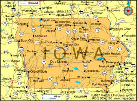 united states map iowa iowa map and iowa satellite images