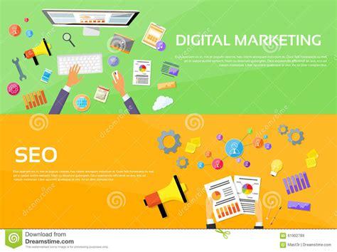 Seo Digital Marketing by Seo Digital Marketing Web Designer Workplace Stock Vector