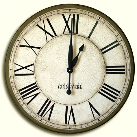 large wall clock 24in cambridge tan or linen by theclockhouse large wall clock 24in galway sage ready to ship