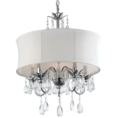 Drum Chandeliers With Crystals White Drum Chandelier With Crystals Home Design Ideas