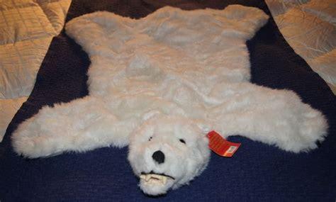real polar rug polar rug 35 quot x 28 quot small bearskin nursery gift photography cabin animal mat