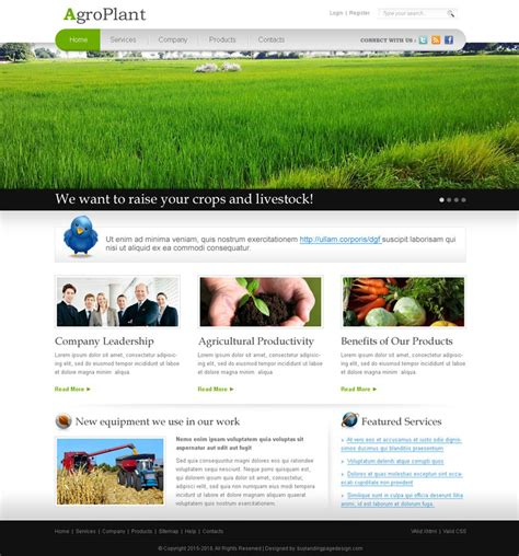 Best Agriculture Design Layout 4 Sale 03 Preview Cheap Web Page Templates