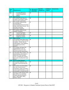 rfp requirements template doc 460595 rfp response template checklist sle