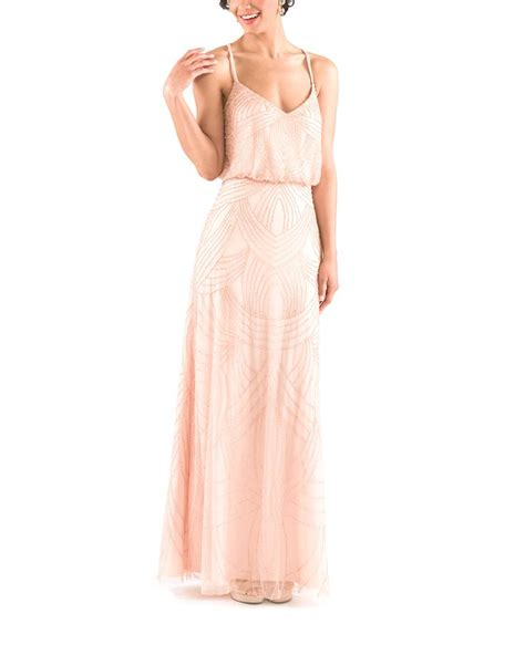 blush beaded dress the beaded blush bridesmaid dress