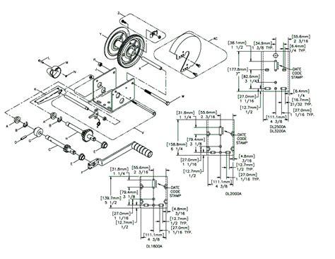 crank winch parts diagram repair wiring scheme