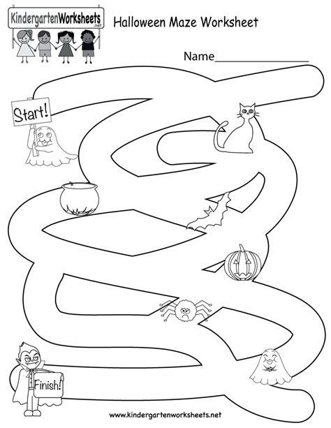printable maze worksheets for kindergarten halloween maze worksheet free kindergarten holiday